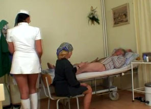Insane Red-hot Nurse Helps Elder..
