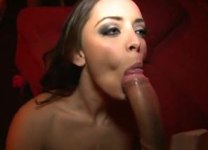 Black-haired hookup vid featuring..