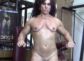 Annie Rivieccio Naked in the Gym