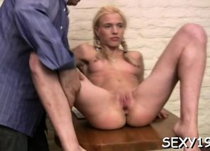 Youthfull lady is being ravished by a..