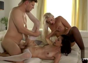 sex industry star three-way with popshot