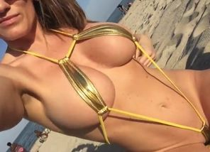 Micro bathing suit light-haired
