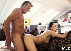 Seducing dad and elder perv granddad..