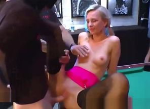 Red-hot ash-blonde gets naughty in..