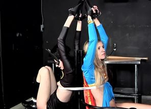 Superheroine victim