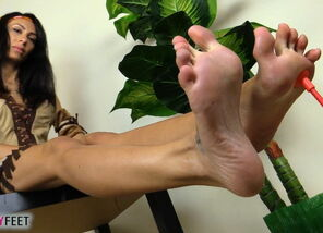 Barefooted squaw soles in utter