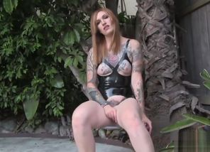 Sizzling and wild trans woman draining..